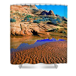 Coyote Buttes Reflection Shower Curtain