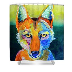 Coyote Shower Curtain by Rick Mosher