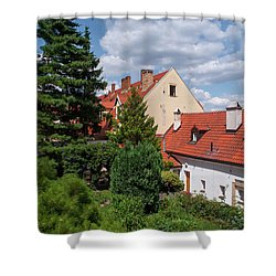 Shower Curtain featuring the photograph Cozy Prague by Jenny Rainbow