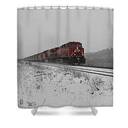 Shower Curtain featuring the photograph Cp Rail 2 by Stuart Turnbull
