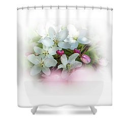 Crabapple Blossoms 3 - Shower Curtain