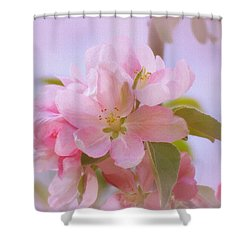 Crabapple Pink Shower Curtain by MTBobbins Photography