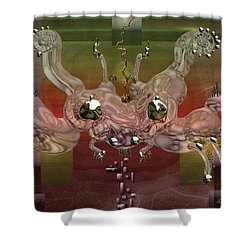 Crabba Shower Curtain by Marko Mitic