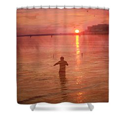 Shower Curtain featuring the photograph Crabbing At Chicks Beach Chesapeake Bay Va Beach by Suzanne Powers