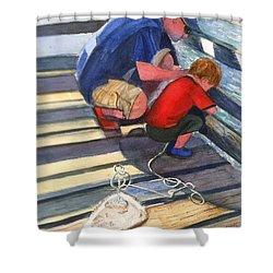 Crabbing Shower Curtain