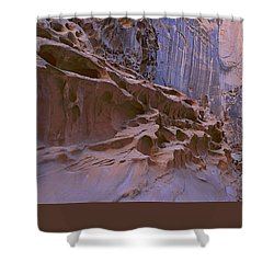 Crack Canyon Blue Wall Shower Curtain