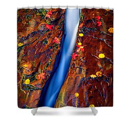 Crack In The Rock Shower Curtain by Inge Johnsson