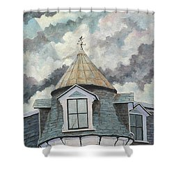 Crack The Sky Shower Curtain by Richard T Pranke