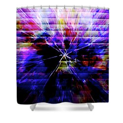 Cracked Abstract Blue Shower Curtain