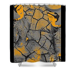 Cracked Earth With Frieda Khalo. Shower Curtain