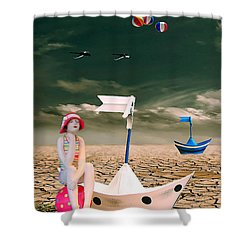 Shower Curtain featuring the photograph Cracked II - The Bathing Beauty by Chris Armytage