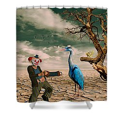 Shower Curtain featuring the photograph Cracked IIi - The Clown by Chris Armytage