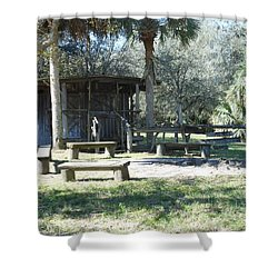 Cracker Cow Hunter Shack Shower Curtain