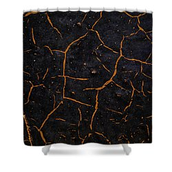 Shower Curtain featuring the photograph Cracking Paint by Jason Moynihan