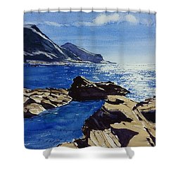 Crackington Haven Sparkle Shower Curtain