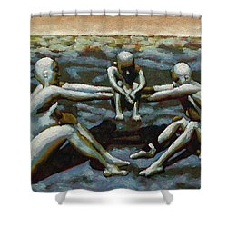 Cradle Shower Curtain by Leo Mazzeo