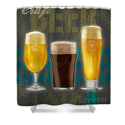 Craft Beer Shower Curtain