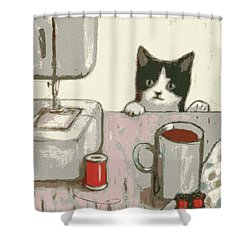 Crafty Cat #2 Shower Curtain