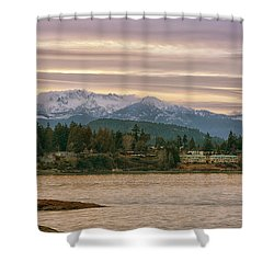 Shower Curtain featuring the photograph Craig Bay by Randy Hall