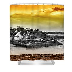 Crail Harbour Shower Curtain