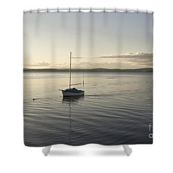 Cramond. Boat. Shower Curtain