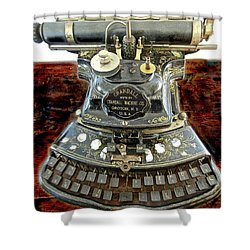 Crandall Type Writer 1893 Shower Curtain