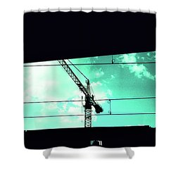 Crane And Shadows Shower Curtain