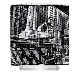 Crane In Manhattan Shower Curtain