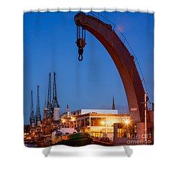 Cranes, Bristol Harbour Shower Curtain