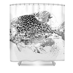 Crappie Abstract Shower Curtain