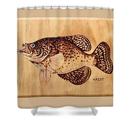 Crappie Shower Curtain