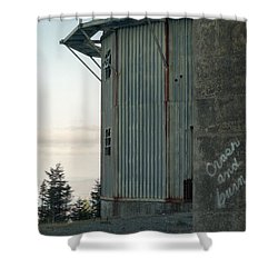 Crash And Burn Shower Curtain by Richard Rizzo