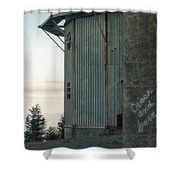 Crash And Burn Shower Curtain by Richard Rizzo