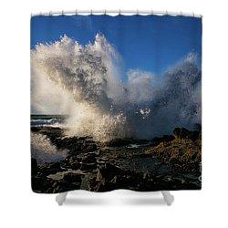 Crash Landing Shower Curtain