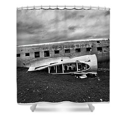 Crash Shower Curtain by Wade Courtney