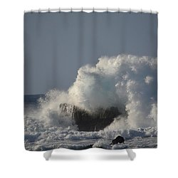 Crashing Ocean Wave Shower Curtain