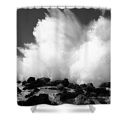 Crashing Wave - Bw Shower Curtain by Dana Edmunds - Printscapes