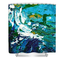 Crashing Wave Shower Curtain by Donna Blackhall