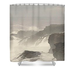Crashing Waves Shower Curtain by Angi Parks