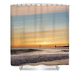 Crashing Waves At Aberdeen Beach Shower Curtain
