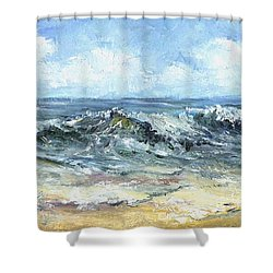 Crashing Waves In Florida  Shower Curtain