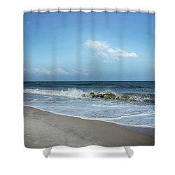 Crashing Waves Shower Curtain by Judy Hall-Folde