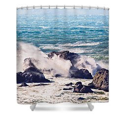 Shower Curtain featuring the photograph Crashing Waves by Kim Wilson