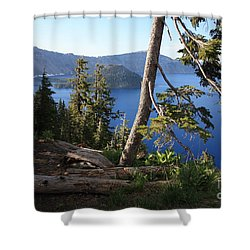 Crater Lake 9 Shower Curtain by Carol Groenen