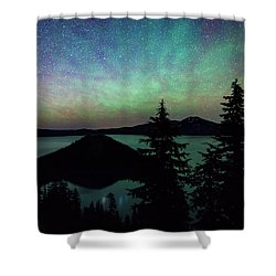Shower Curtain featuring the photograph Crater Lake Airglow by Cat Connor