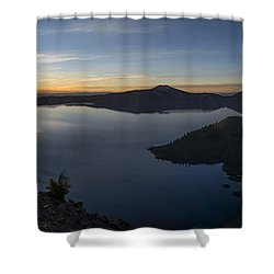 Crater Lake At Sunrise Shower Curtain