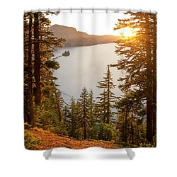 Crater Lake Shower Curtain by Brian Harig