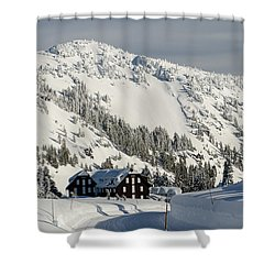 Crater Lake Lodge Shower Curtain