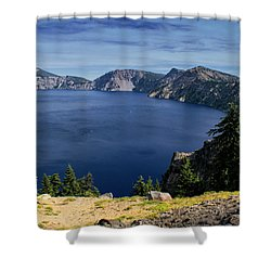 Shower Curtain featuring the photograph Crater Lake View by Frank Wilson