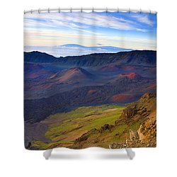 Craters Of Paradise Shower Curtain by Mike  Dawson